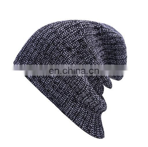 Promotional custom acrylic slouch beanie,knitted hat