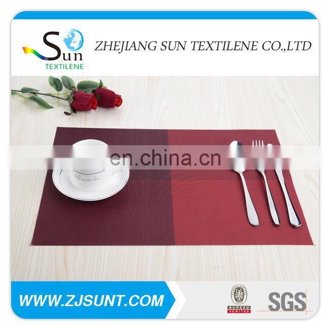 Hot sale dark red matts placemat made in China
