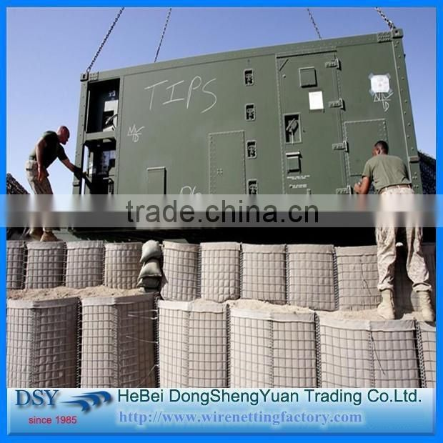 Bomb Proof Welded Wire Mesh Netting Wall Barrier/zinc coated double twisted hexagonal mesh hesco type military defence
