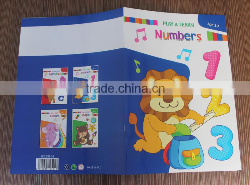 2016 best seller eco-friendly high quality kids english learning book