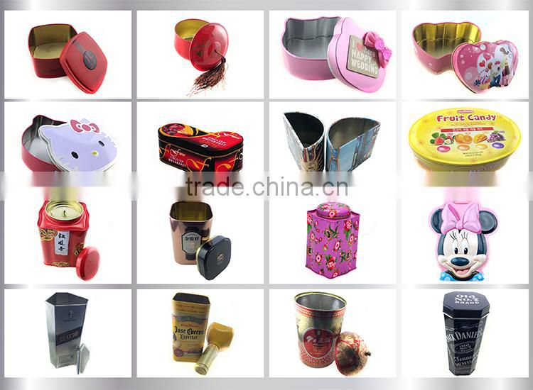 High quality embossing small lip balm tin container