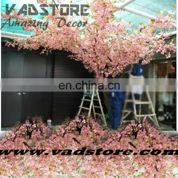 2016 new pink blossom artificial tree 3m dragon shape ficus tree with flower