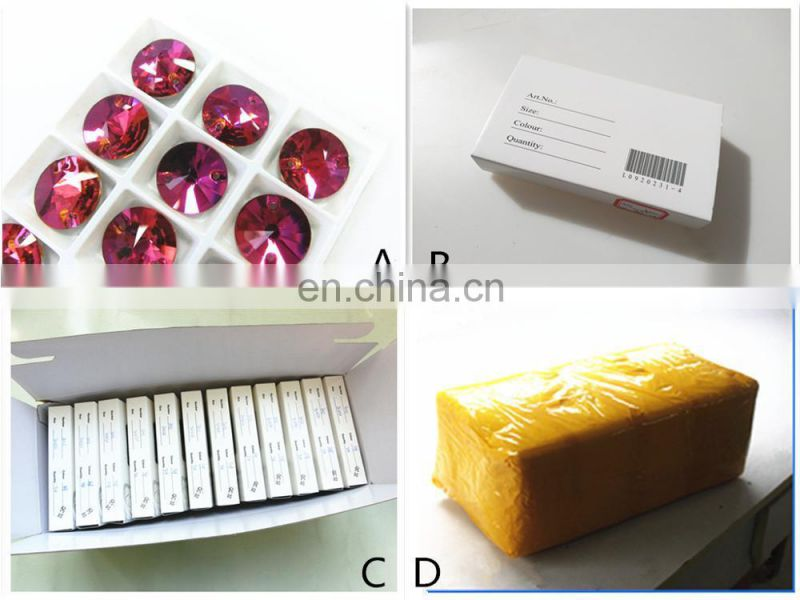 Round flat back sewing rhinestones on clothing for sale
