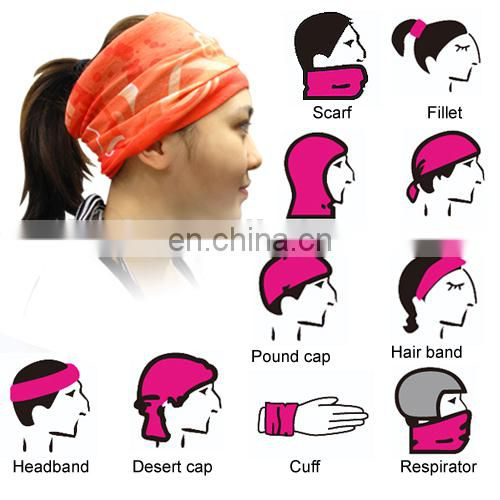 LINGSHANG multifuncion headwear bandana magic headband bandana cap