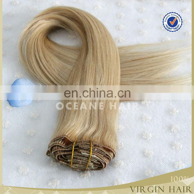 100% virgin human easy claw clip ponytail human hair extension,clip hair extension