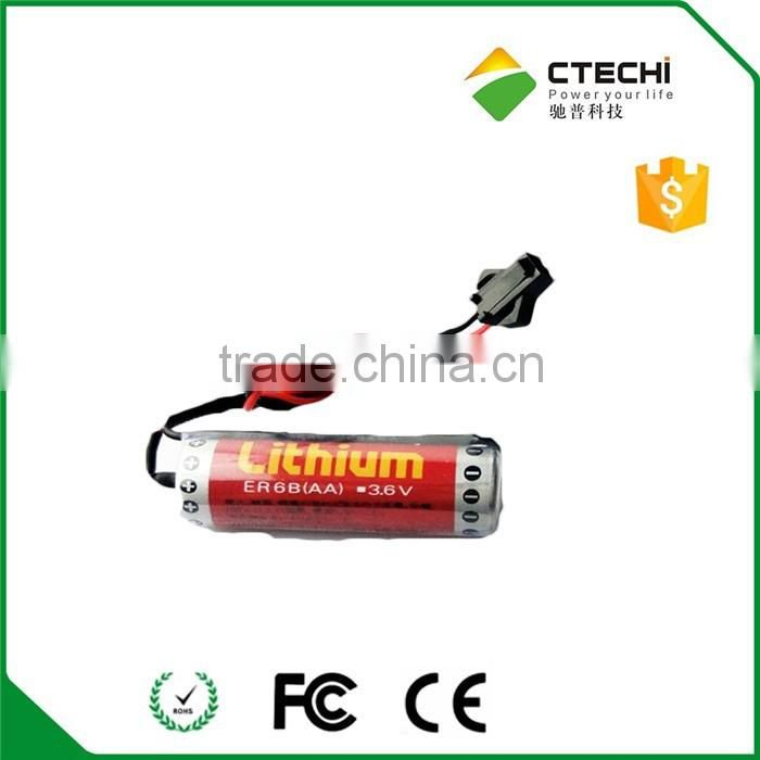 100% maxell ER6B AA size lithium battery 3.6v battery with wire and connector