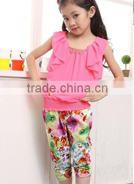 Summer Baby Leisure Clothes Sets, Beautiful Children Sets For Girls