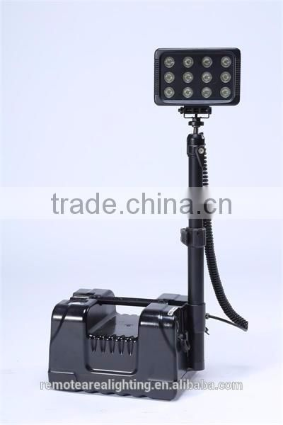 Mobile lighting system high flux led work light RALS-9936 heavy duty rechargeable searchlight with 12V socket plug