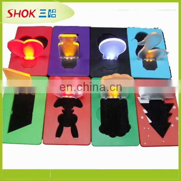 Customized fashion greeting LED credit card light Made in China