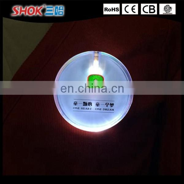 Hot Selling Party Supplies Mini Led Badge