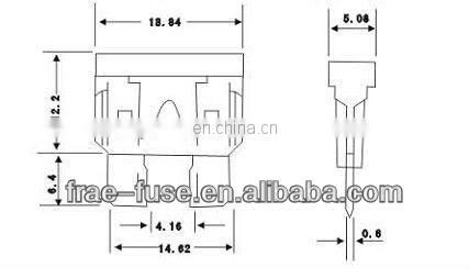 Auto blade type standard fuse for car