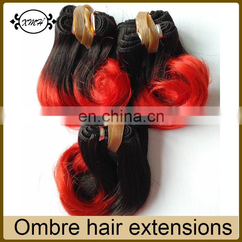Factory Price 6inch Short Hair Body Wave Ombre Color 1B/Red 100% Virgin Brazilian Hair Weave