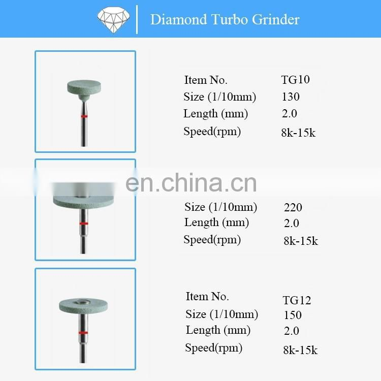 Dental diamond zirconia ceramic polishing turbo grinder
