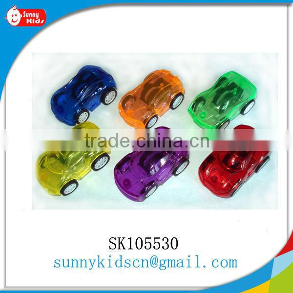 2016 mini pull back toy plastic car small promotional gift