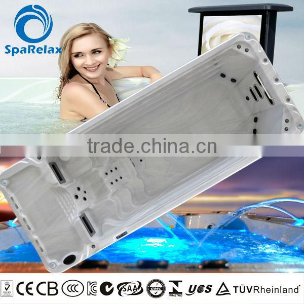 Hot sale above ground swimming pool hydro massage pool endless swim spa pool