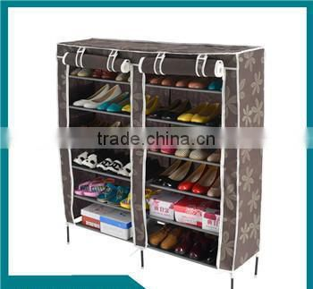 Portable Folding shoe rack, Non-woven Fabric Dustproof 5Tiers Hot Sale Shoe Rack Wall Mounted with Cloth Cover