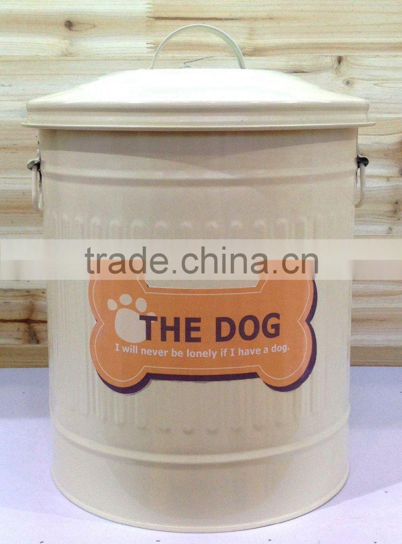 Metal Dog Pet Food Storage Bin Tin/ Dog Food Container of Pet Food