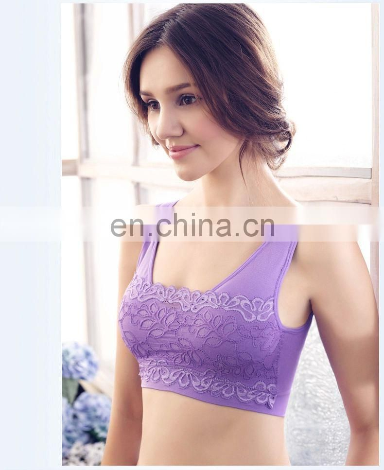 NEW Camilace Bra/seamless lace bra with removable pads