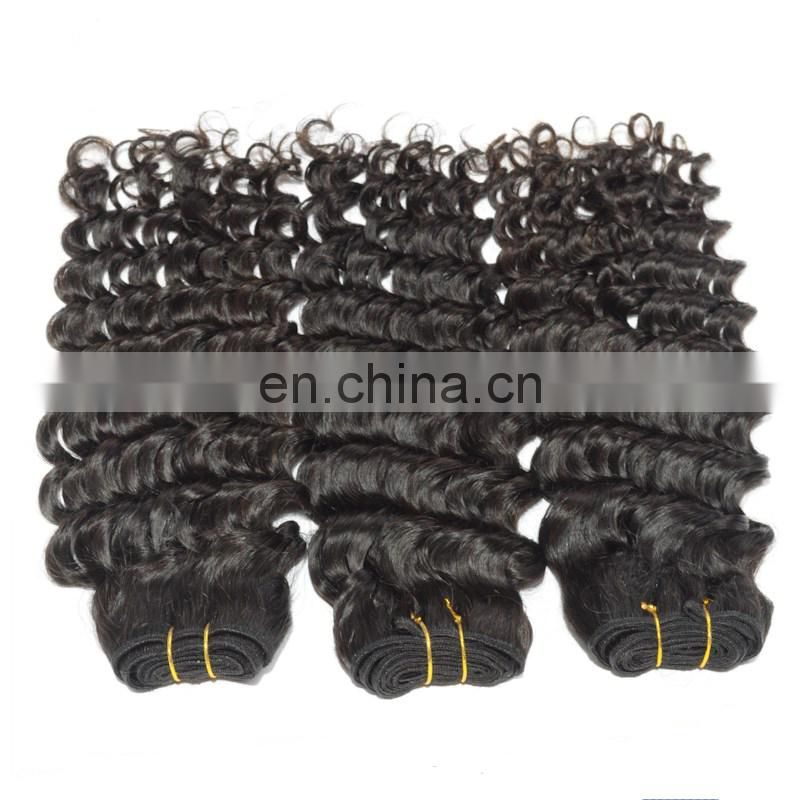 Wholesale bundle weft Brazilian Remy Virgin human soprano remy hair extensions