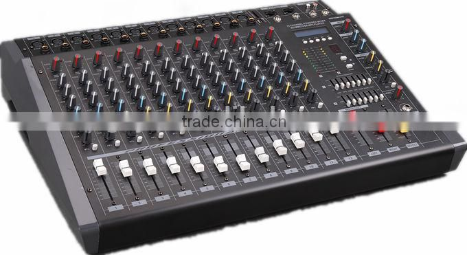 12 channels good quality audio power mixer console PMX-1208