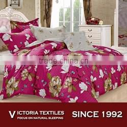 Beautiful Spring White Blossom Floral Duvet Quilt Cover Bedding Set Hot Pink