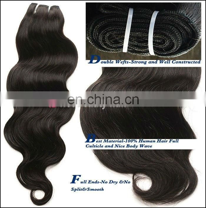 Wholesale for human hair resaler Cheap 4A 20 inch virgin remy brazilian hair weft