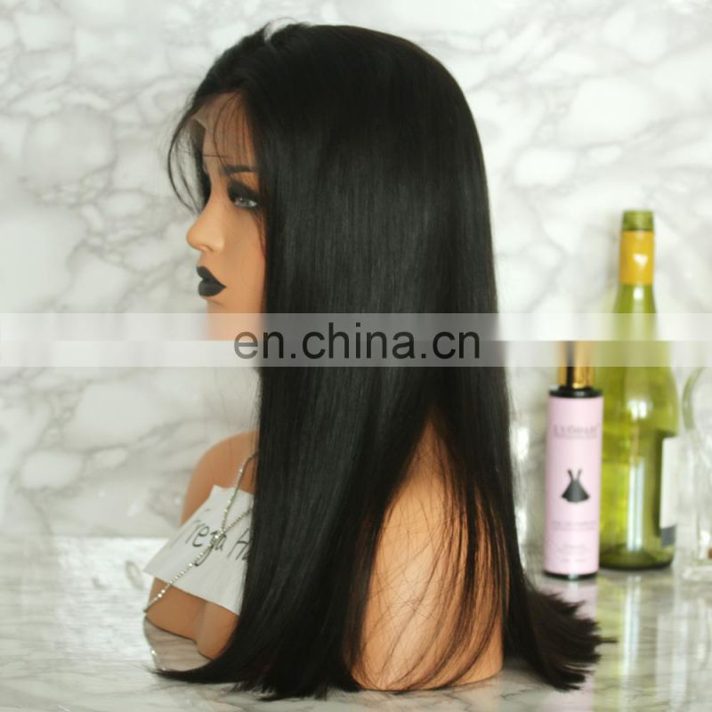 The most natural look and feel virgin brazilian human hair lace wig