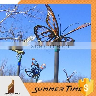 stainless steeel garden abstract metal beautiful butterfly sculpture