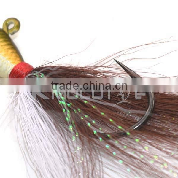 Chentilly CFF009 1/8oz to 6oz bucktail bait lead jig for bass fishing deer hair skirts