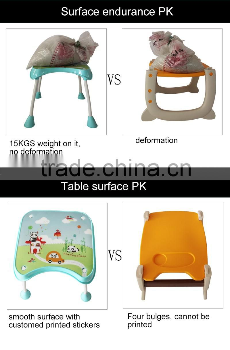 Hot Selling Multi-function Plastic Baby Folding Table and High Chair 3 in 1 with EN14988