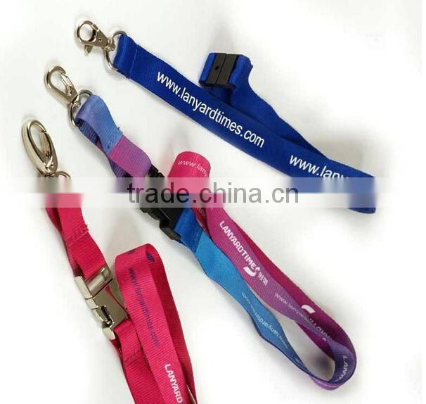 Promotional printed polyester lanyard with bottle opener