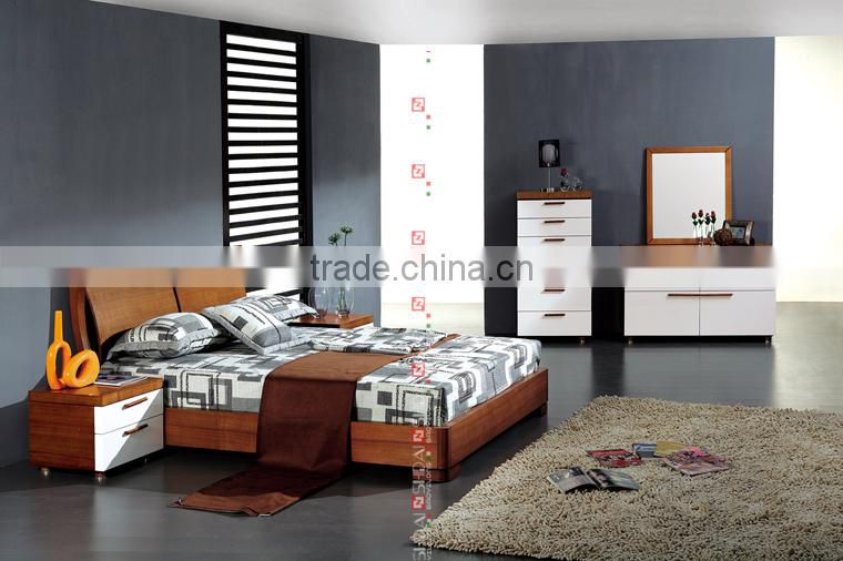 modern teen bedroom furniture / modern light oak wood ...