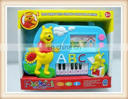 cartoon baby organ toy, mini kids toys plastic musical instruments