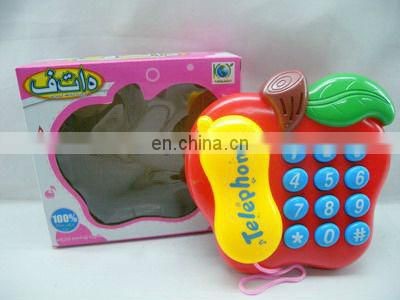 cartoon plastic telephone toy with light
