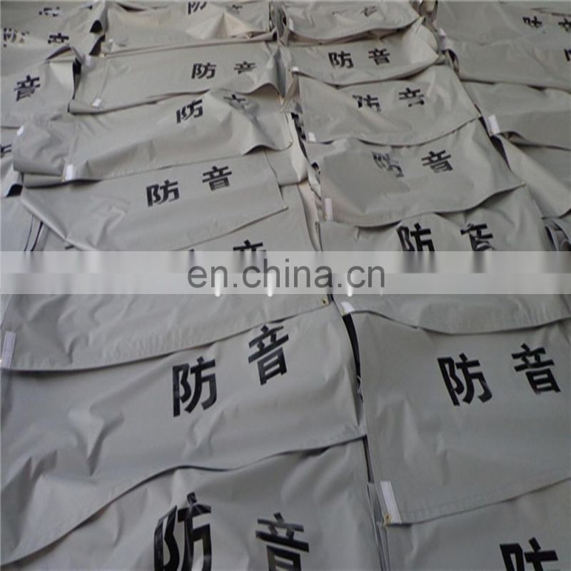 PVC laminated tarp with soundproof and fireproof for Building protection, export Japan market