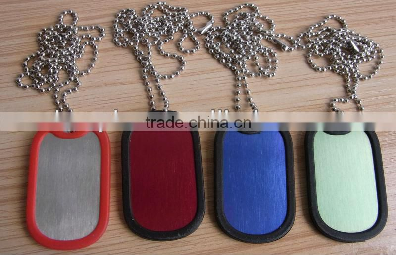New Metal Enamel Accessories Necklace Pendant Disk Dog Tag charm