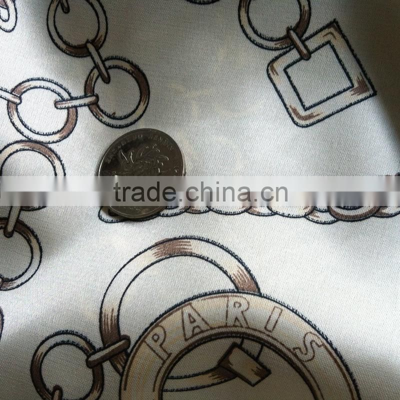 Cheap quick dry acetate 100% Polyester Woven Different Types of Fabric Printing wholesale
