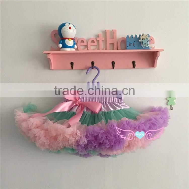 MOQ 1PCS Chiffon Fluffy Pettiskirts Tutu Princess Party Skirts Baby Girls Ballet Dance Wear Kids Petticoat