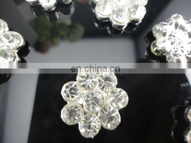17MM Clear Alloy Crystal Button Spark Rhinestone Buttons Decoration Accessory