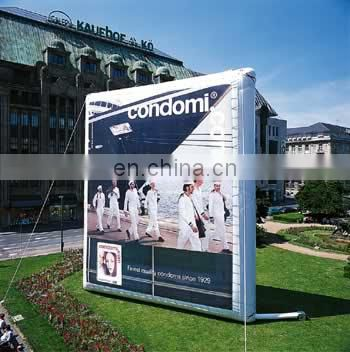Giant inflatable advertising billboard with double side printing logos