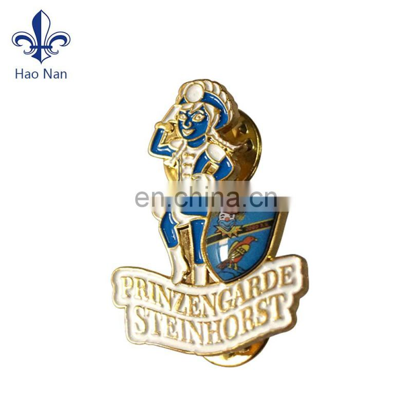 Promotion custom enamel pin name metal button badge