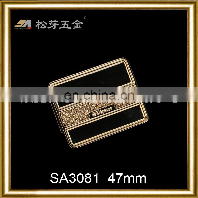 Alibaba China Gold Supplier Metal Strap Lock Hardware For Bags, Zinc Alloy Hardware Fitting For Handbags