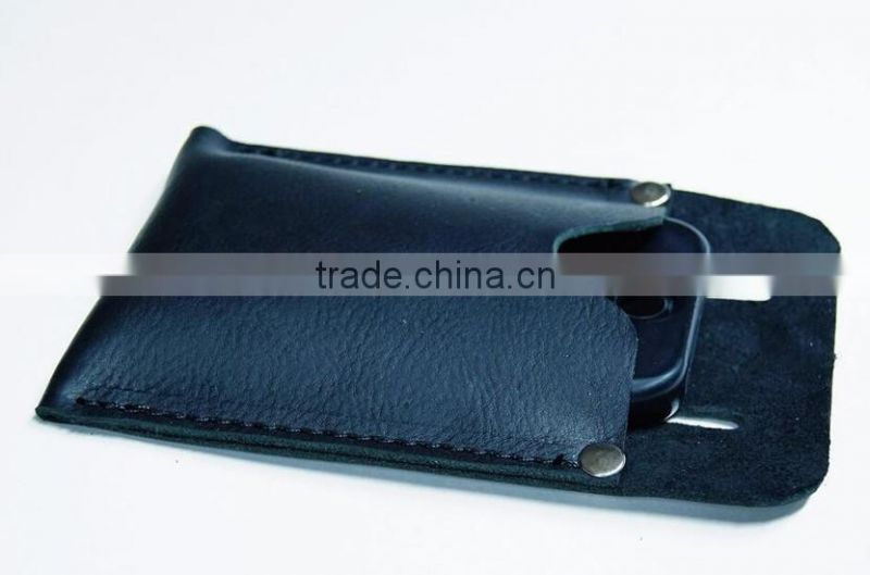 Handmade Leather Smart Phone Belt Holster for iphone 6/iphone 6S Custom Cell Phone Pouch Manufacturer