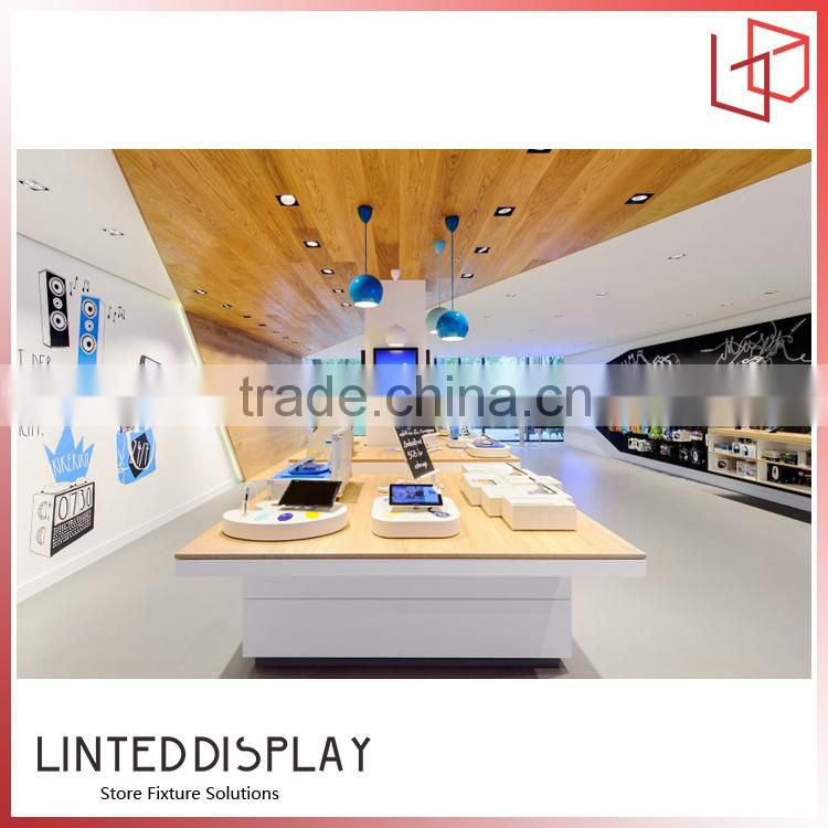 With led lights acrylic display stand for Apple brand shop decoration