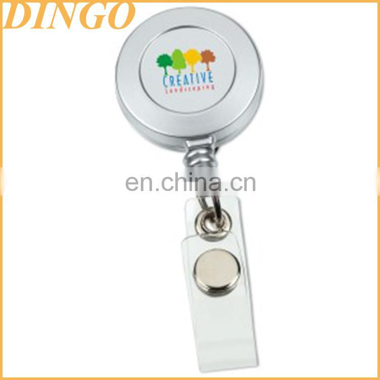 Colorful retractable badge reel with lanyard for id card holder