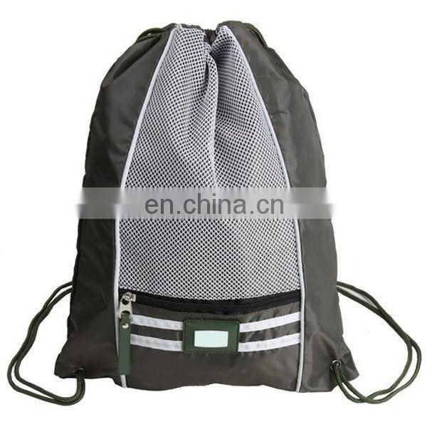 Polyester backpack bag drawstring bag