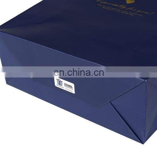 2015 creative branded golden color small Jewelry paper bag