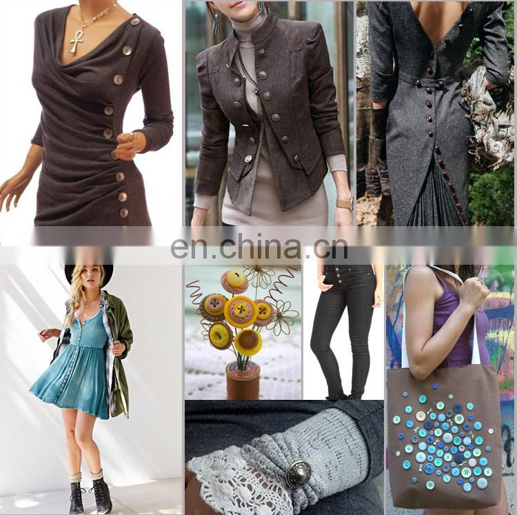 Metal flower design diamond crystal rhinestone button for lady's coats