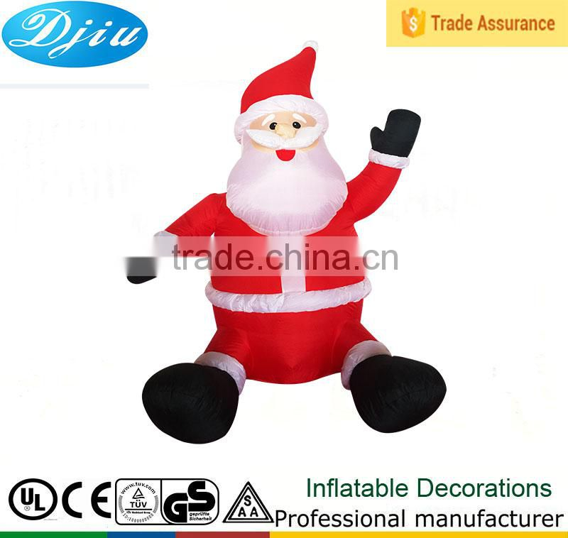 DJ-XT-86 outdoor giant inflatable christmas newest design high quality decoration santa claus