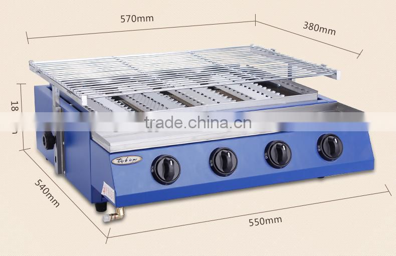 4 Big Head Barbecue Gas Grill Commecial use equipment